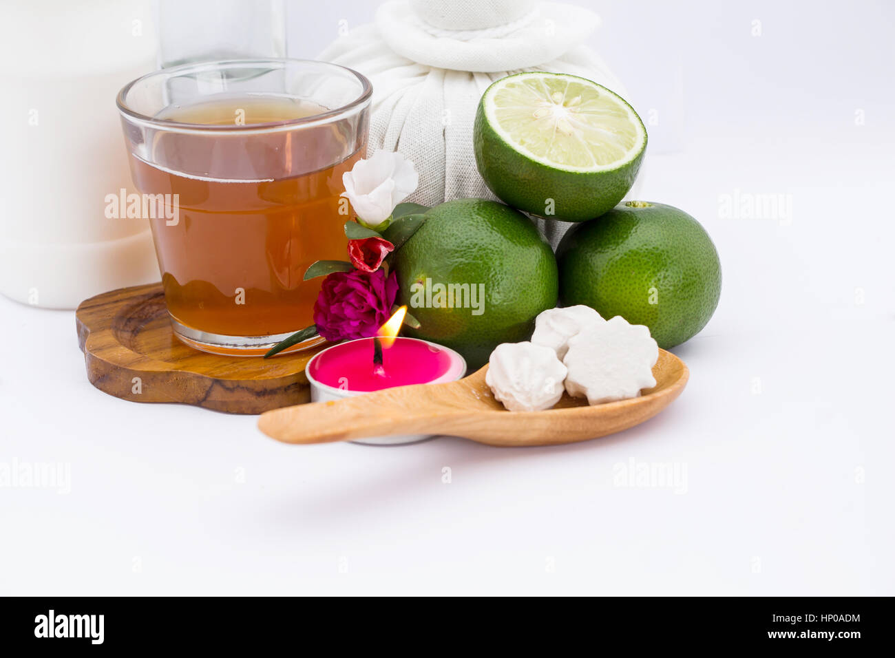 Leman and honey for spa - Stock Image
