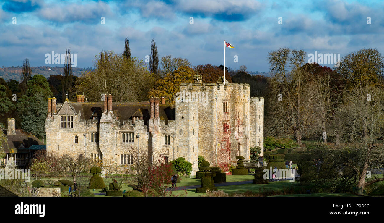 Hever Castle and surroundings - Stock Image