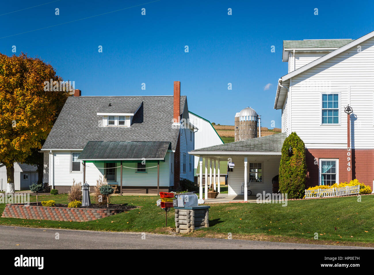 A farm in Coshocton County, Ohio, USA. - Stock Image