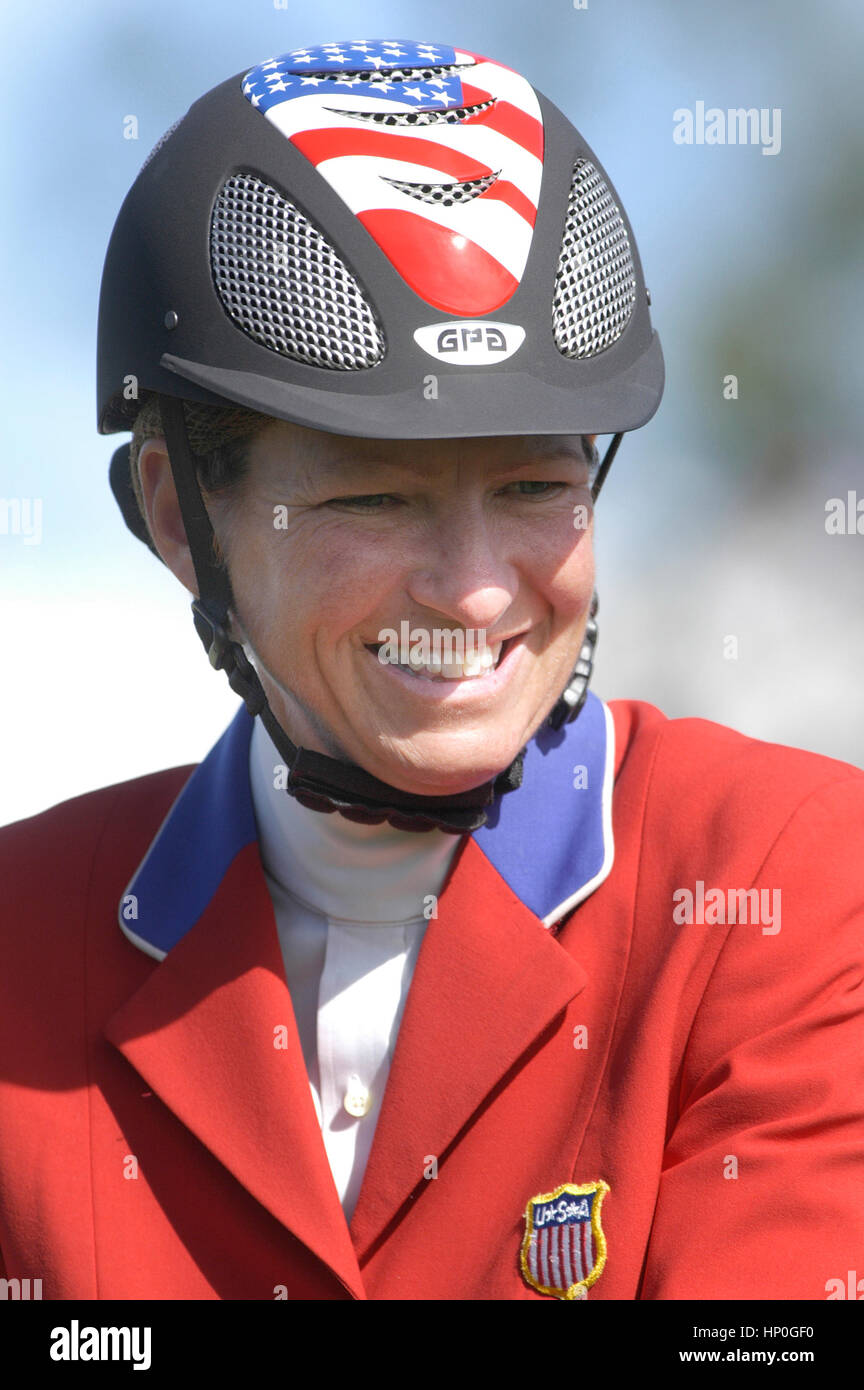 CSIO Masters, Spruce Meadows, September 2005, portrait of Beezie Madden (USA) Stock Photo