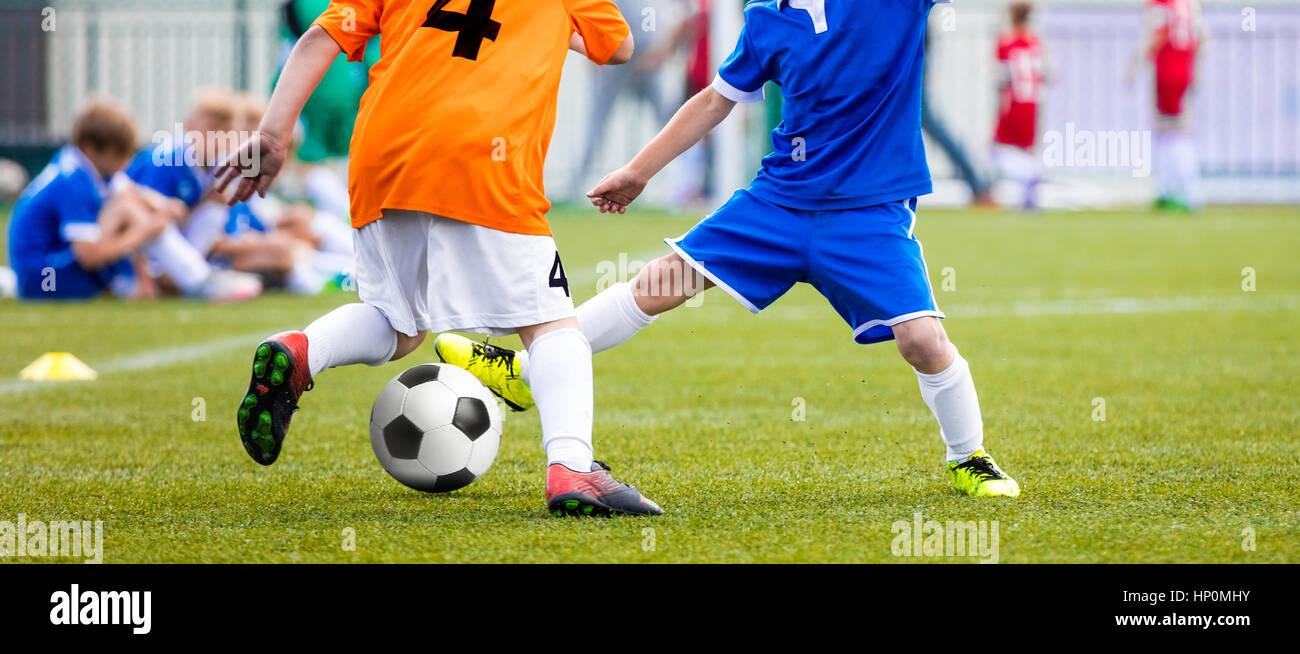 Football Match for Children  Kids Playing Soccer Tournament