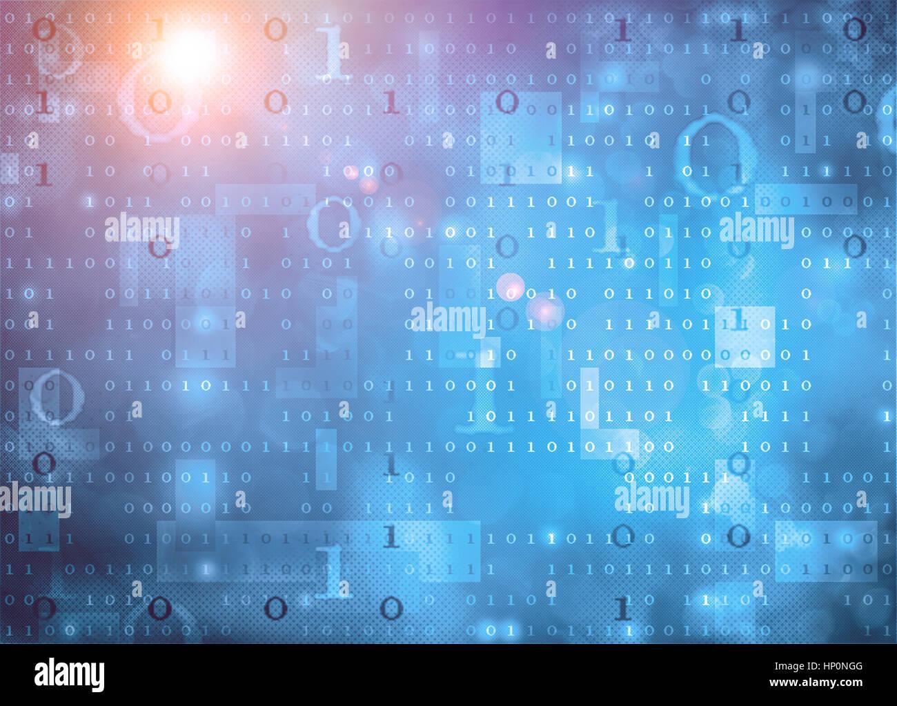 binary data - Stock Image