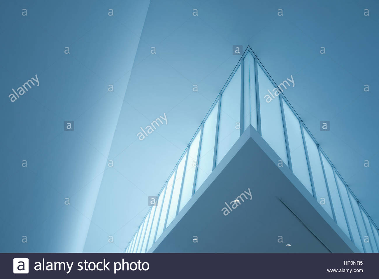 Modern architecture interior glass gallery angular - Stock Image