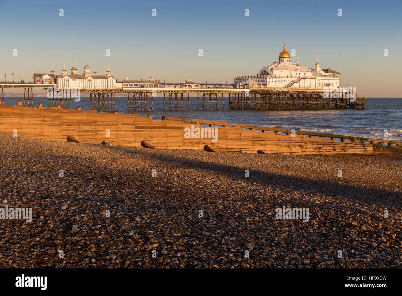 Eastbourne Pier Sussex Golden Dome South Coast British Seaside Resort England UK - Stock Image