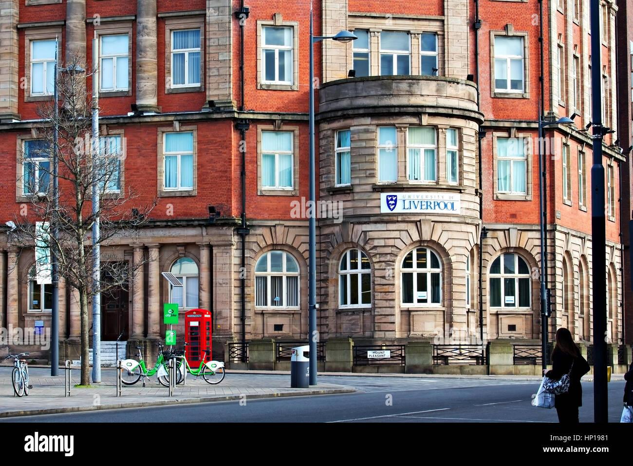 University of Liverpool building on Mount Pleasant Liverpool Merseyside United Kingdom - Stock Image