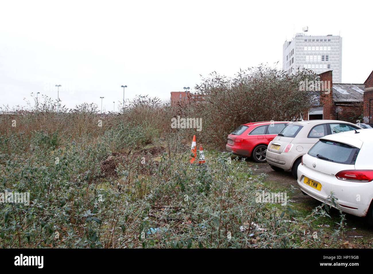Brownfield land in Stoke-on-Trent, Staffordshire. UK. 17th February 2017. Stock Photo