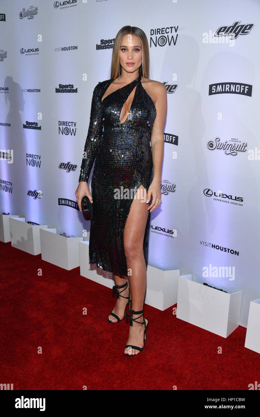 New York, USA. 16 Feb 2017. Hannah Jeter attends the Sports Illustrated Swimsuit 2017 NYC launch event at Center415 Stock Photo