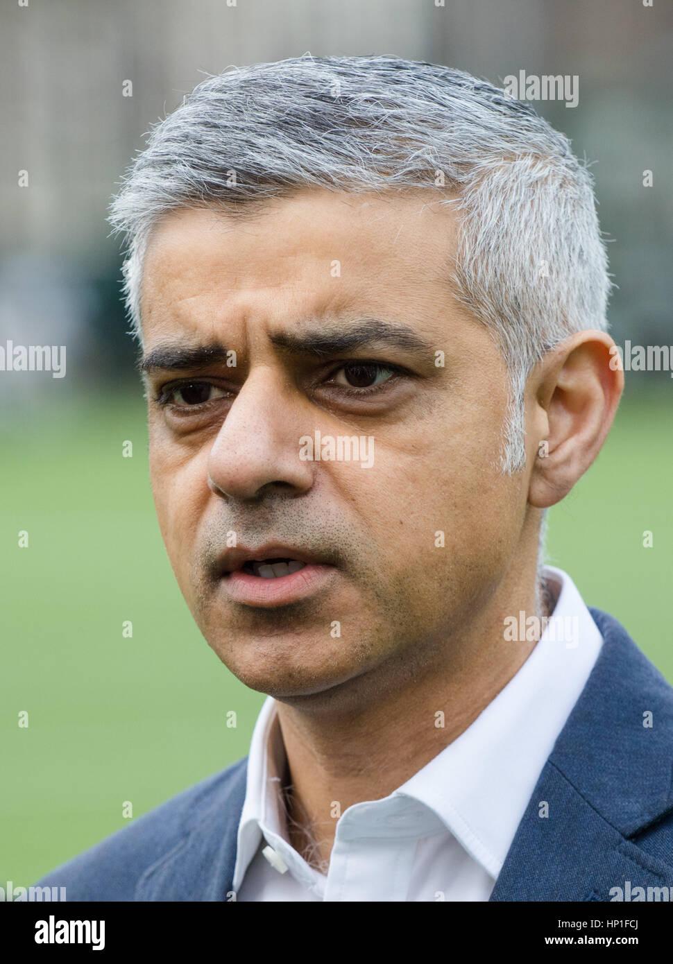 London, UK. 17th Feb, 2017. Coram's Fields Youth Centre, London, February 17th 2017. Mayor of London Sadiq Khan - Stock Image