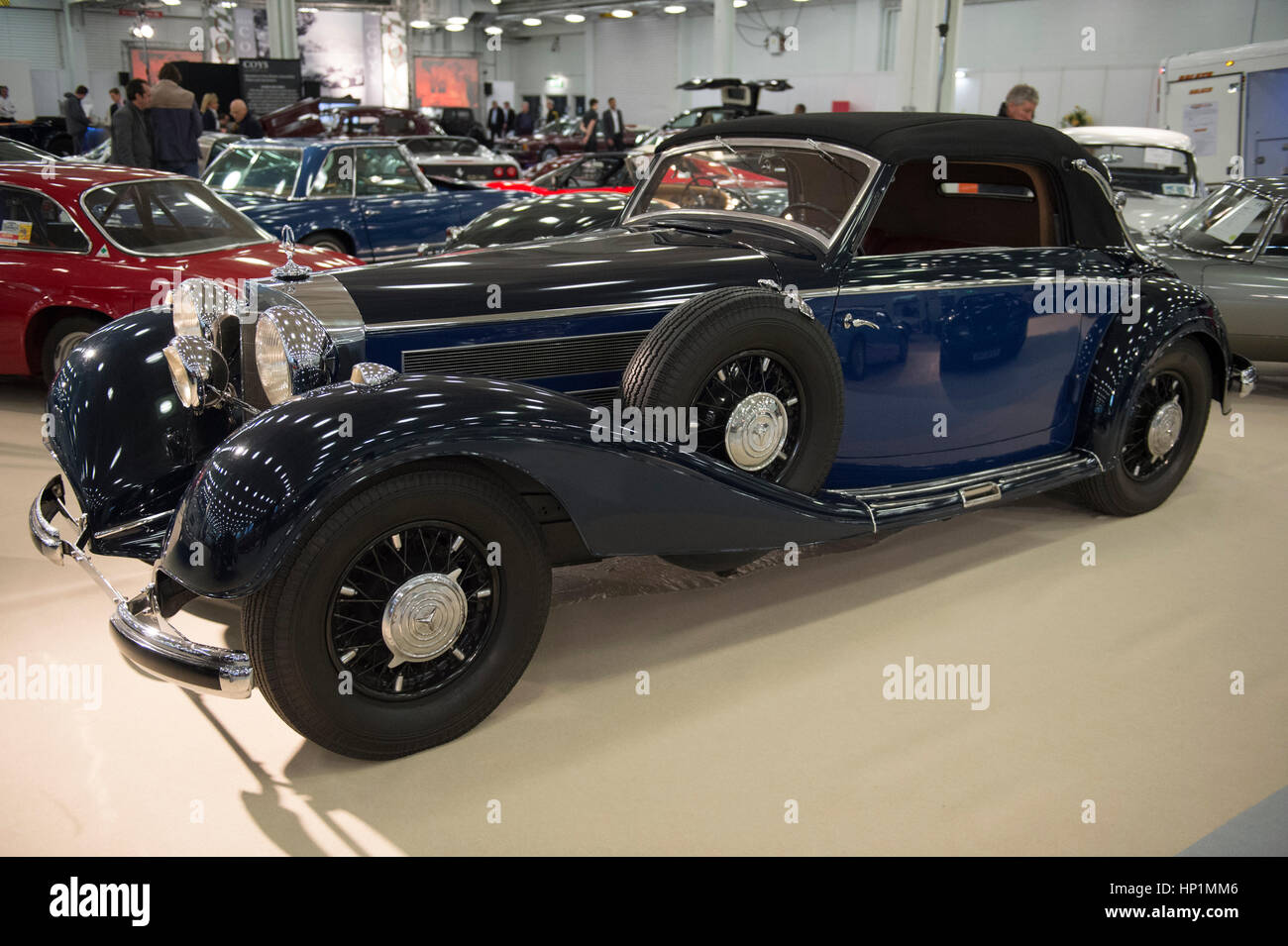 Olympia, London, UK. 17th Feb, 2017. Historic automobile fair and auction preview day. Historic ultra-luxury cars Stock Photo