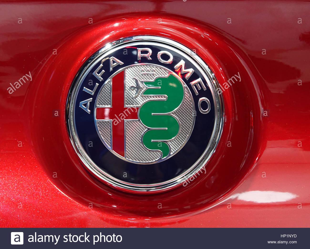 Alfa Romeo Logo Stock Photos Images Alamy Toronto Canada 17th February 2017 The Canadian