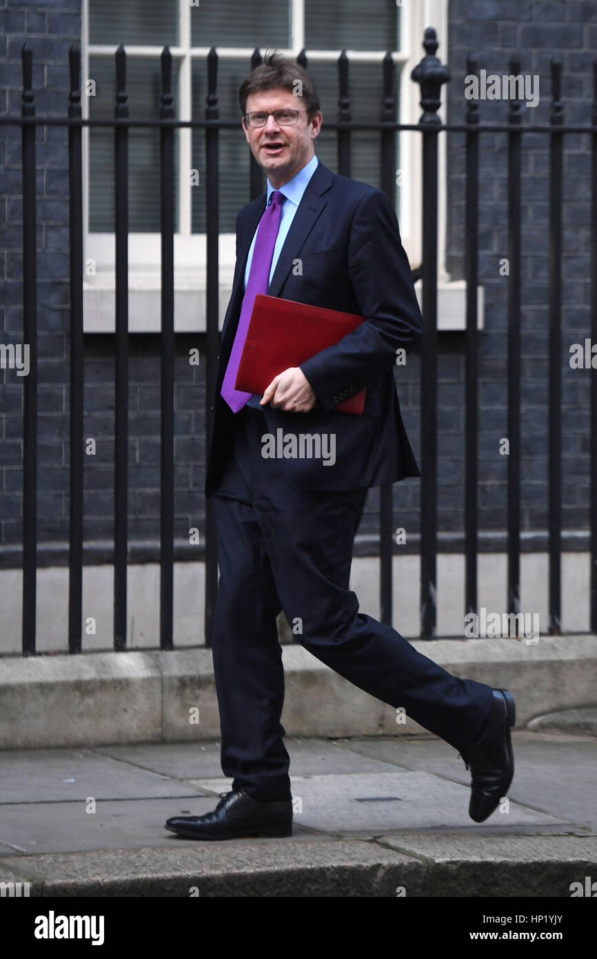 Business Secretary Greg Clark arrives in Downing Street, London, after he was told that Vauxhall's brand and - Stock Image