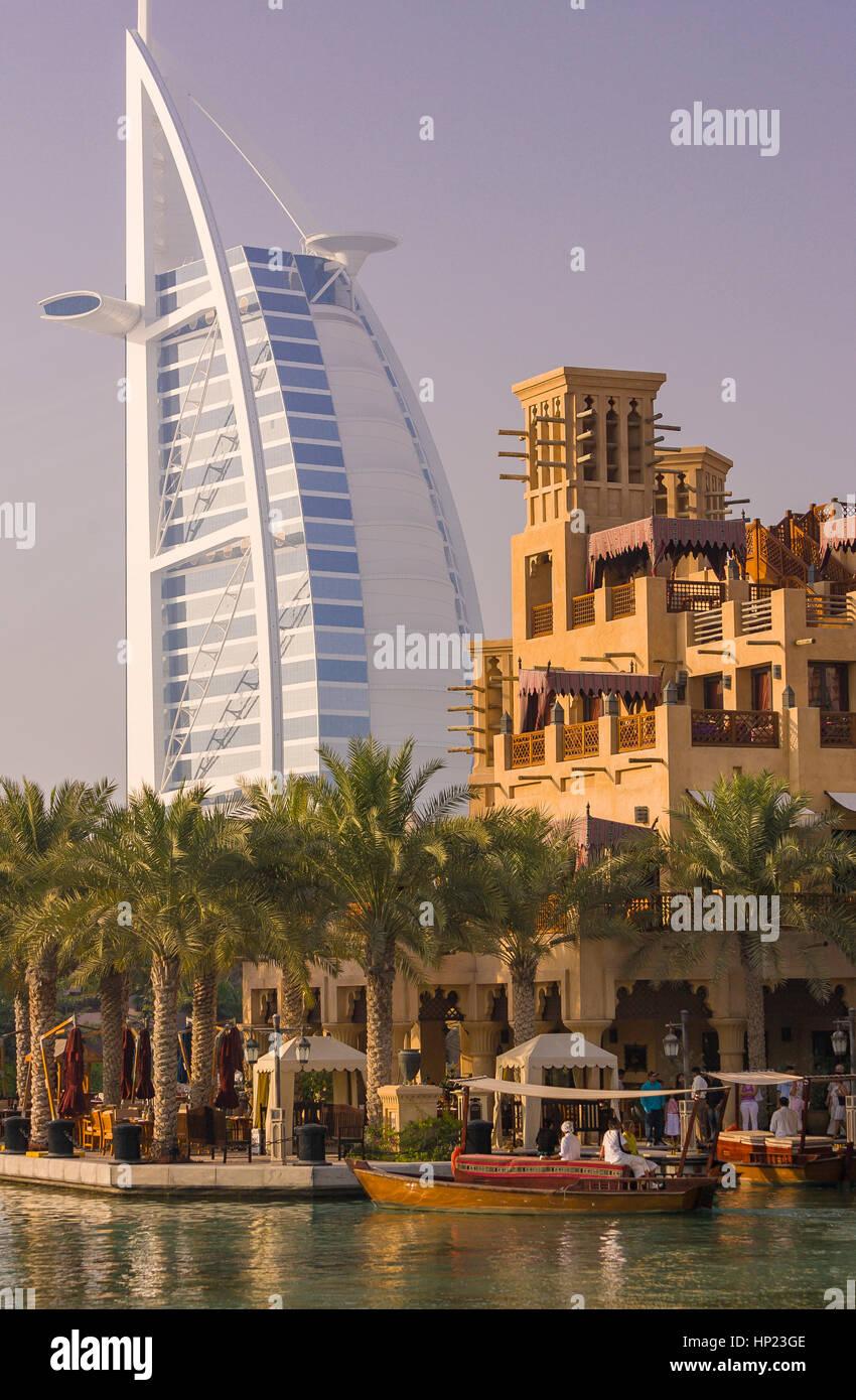 DUBAI, UNITED ARAB EMIRATES - Canal in front of Madinat