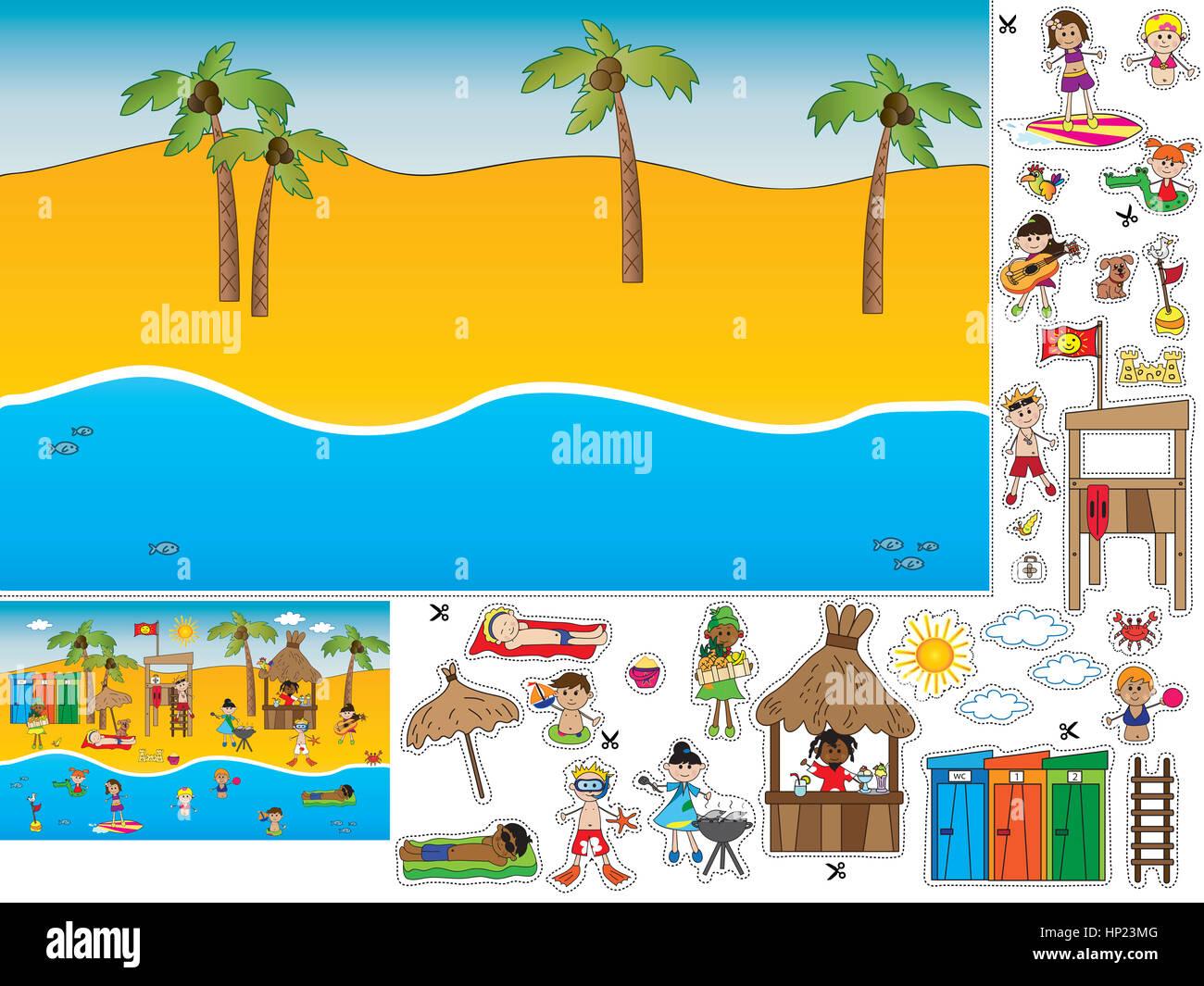 Game Children Cut Paste Stock Photos & Game Children Cut Paste Stock ...