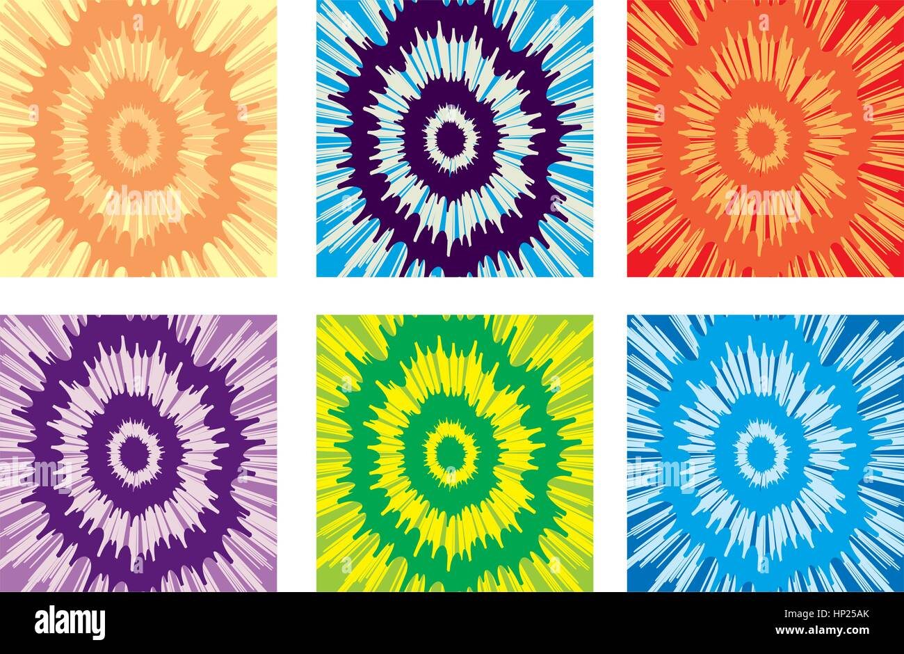 a714fdae7 An illustration of a variety of different colored tie-dye backgrounds.