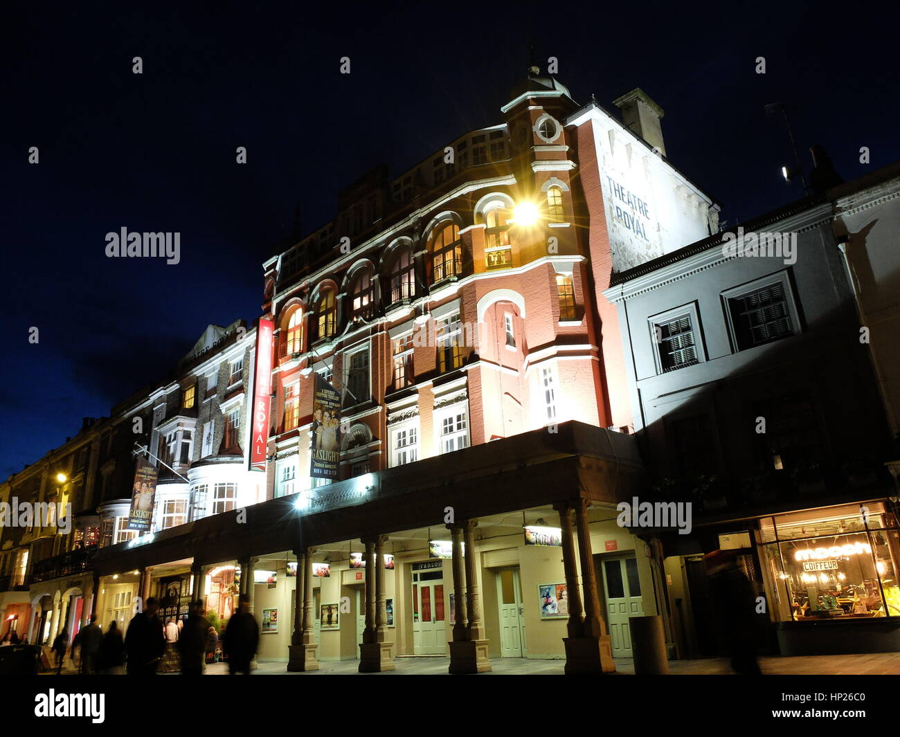 Theatre Royal, Brighton, at night - Stock Image