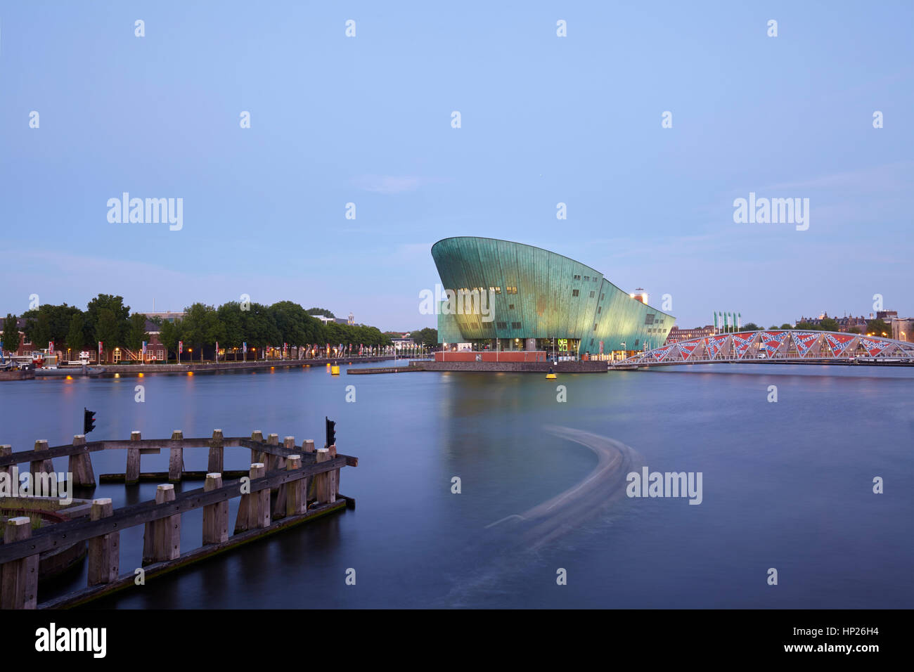 NEMO Science Museum in Amsterdam, Netherlands - Stock Image