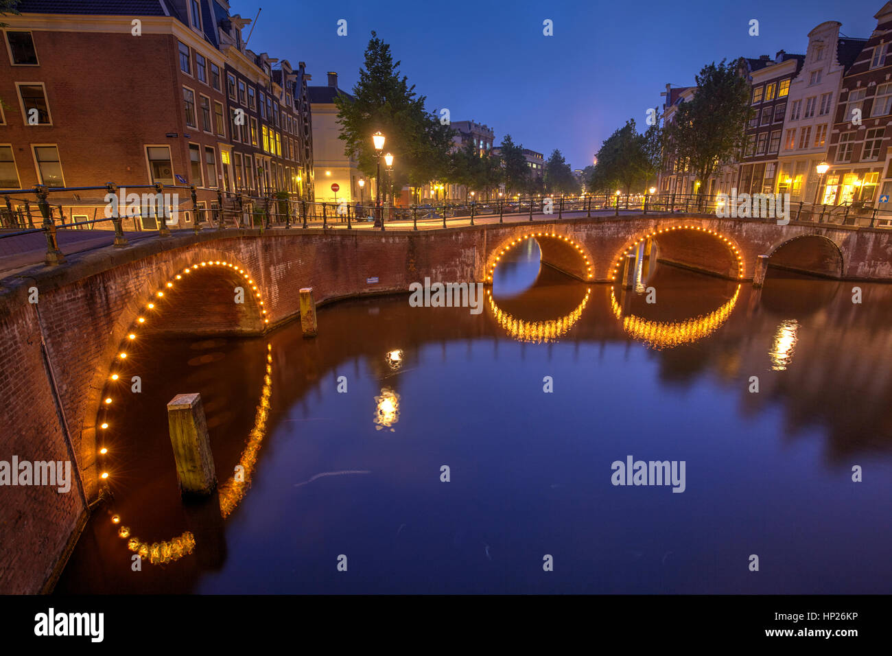 Traditional canals in Amsterdam, Netherlands Stock Photo