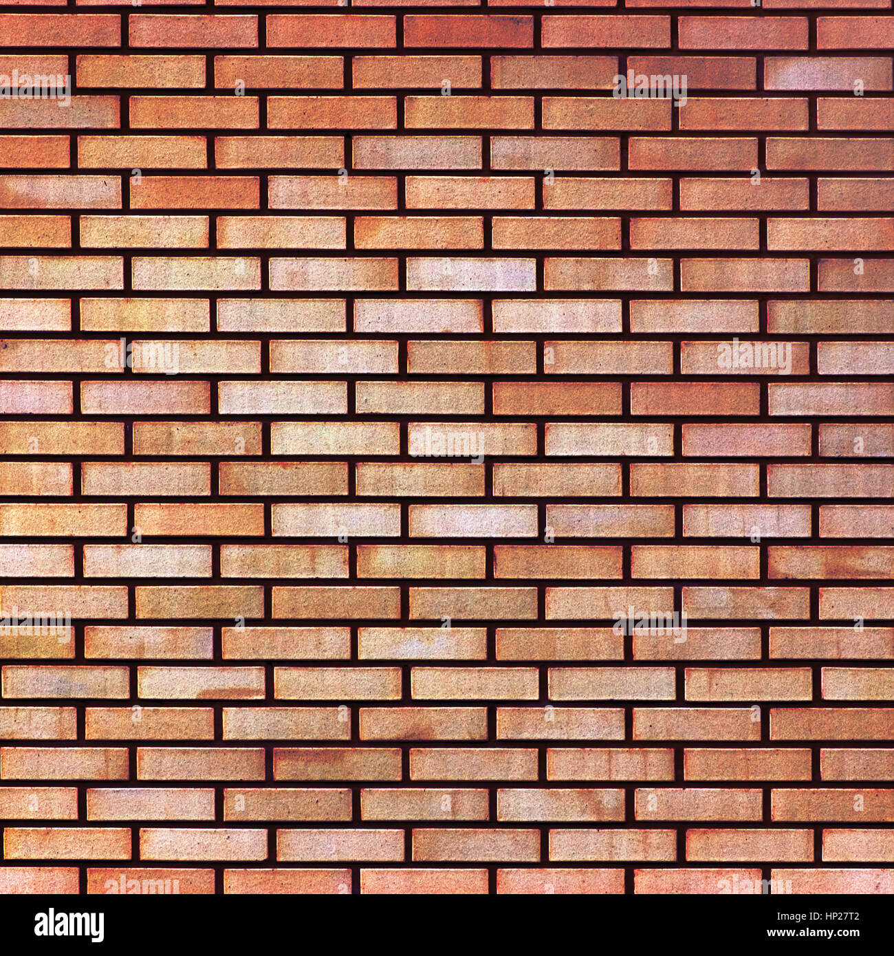 Red Yellow Beige Tan Fine Brick Wall Texture Background Large