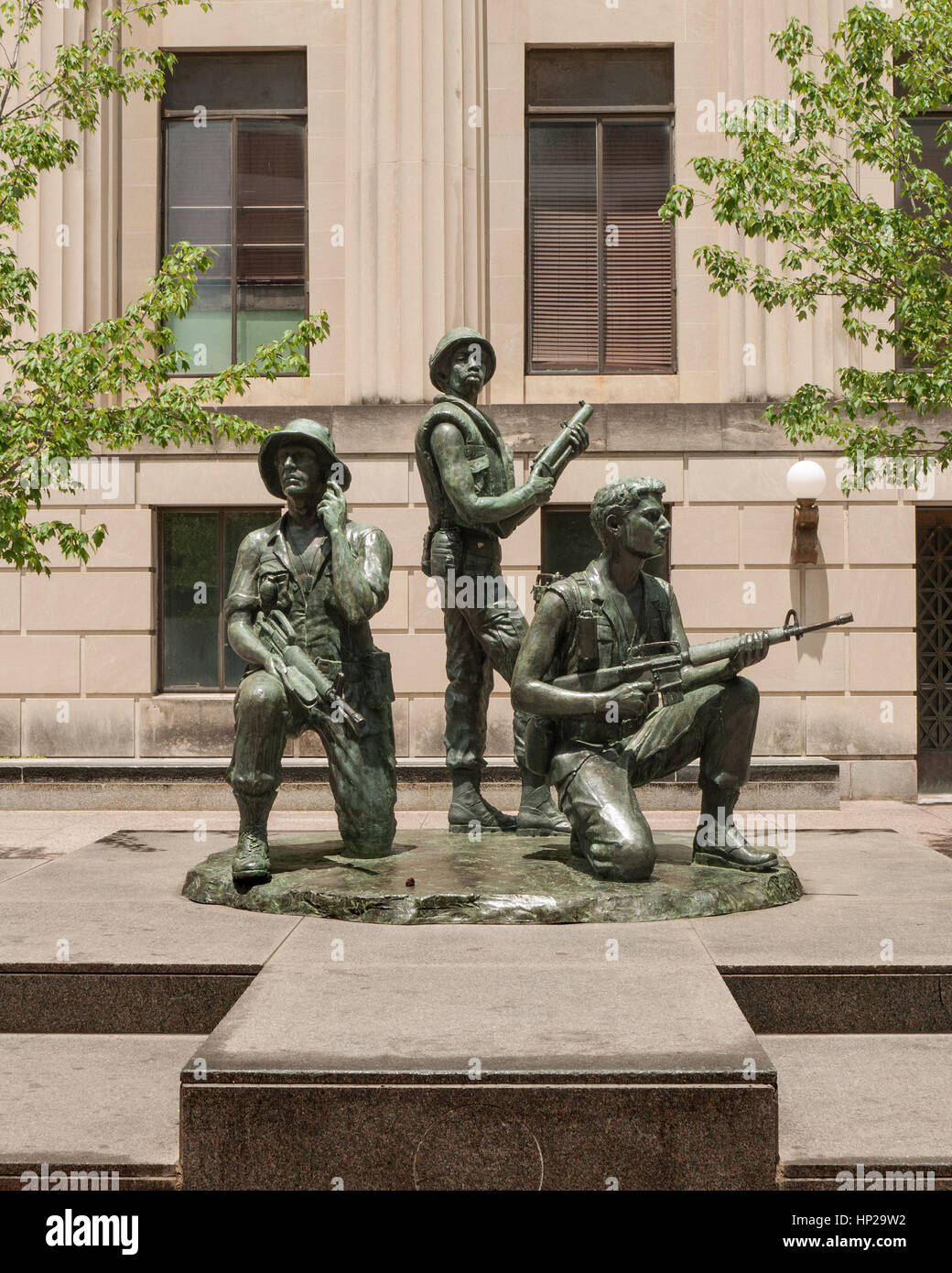 Vietnam War Veterans statue at Legislative Plaza, Nashville, Tennessee - Stock Image