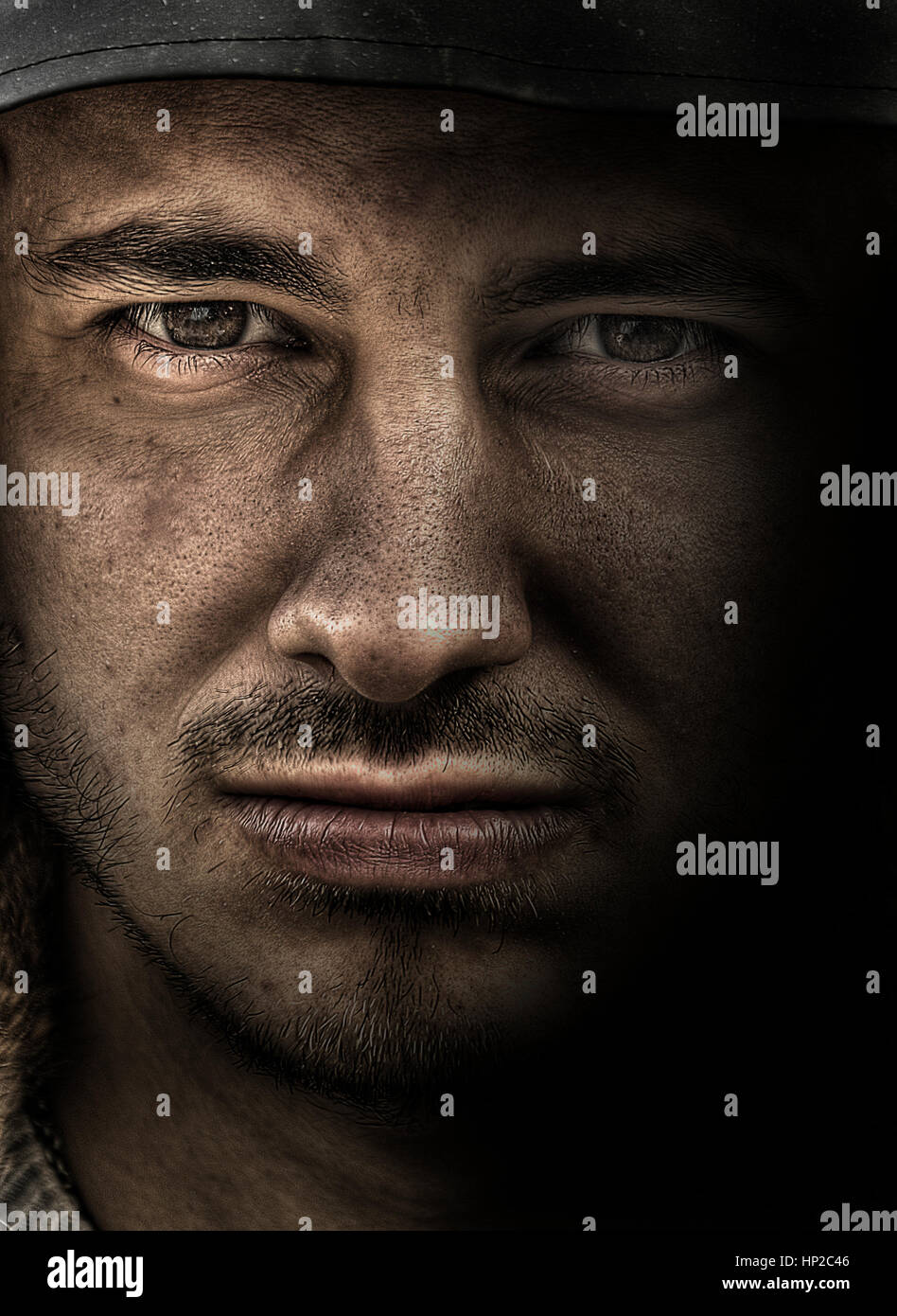 Dirty soldier - Stock Image