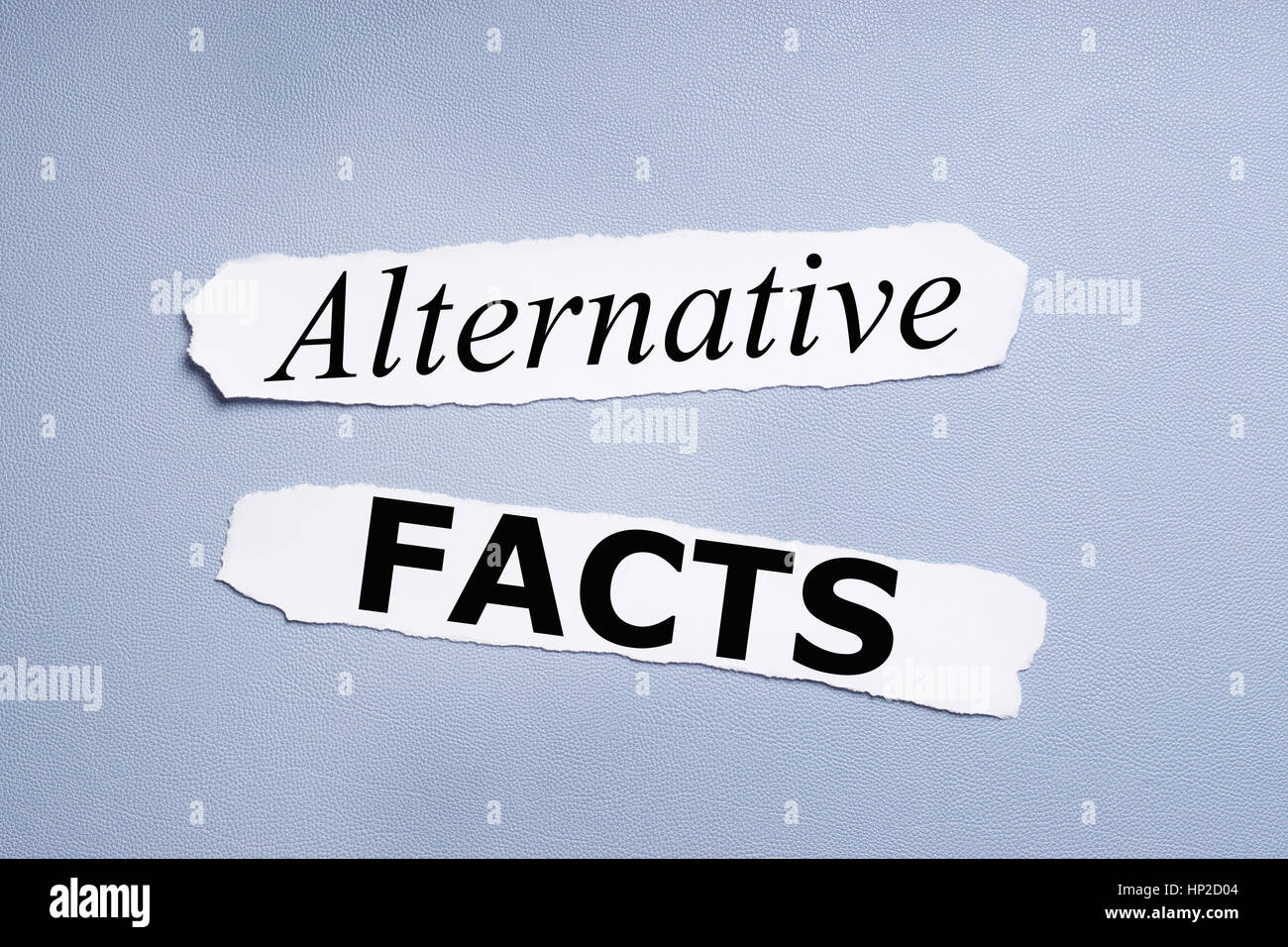 alternative facts - Stock Image