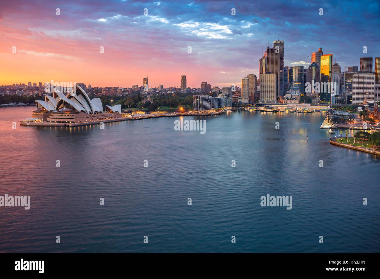 City of Sydney. Cityscape image of Sydney, Australia during sunrise. - Stock Image