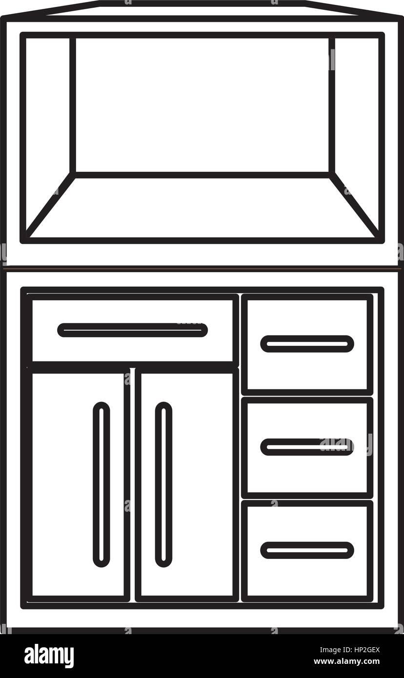 Kitchen Cabinet Design Icon Vector Illustration Graphic Design Stock