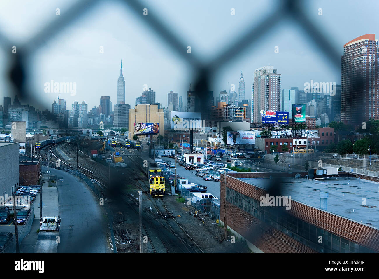 Manhattan as Seen from Greenpoint, New York City, USA - Stock Image