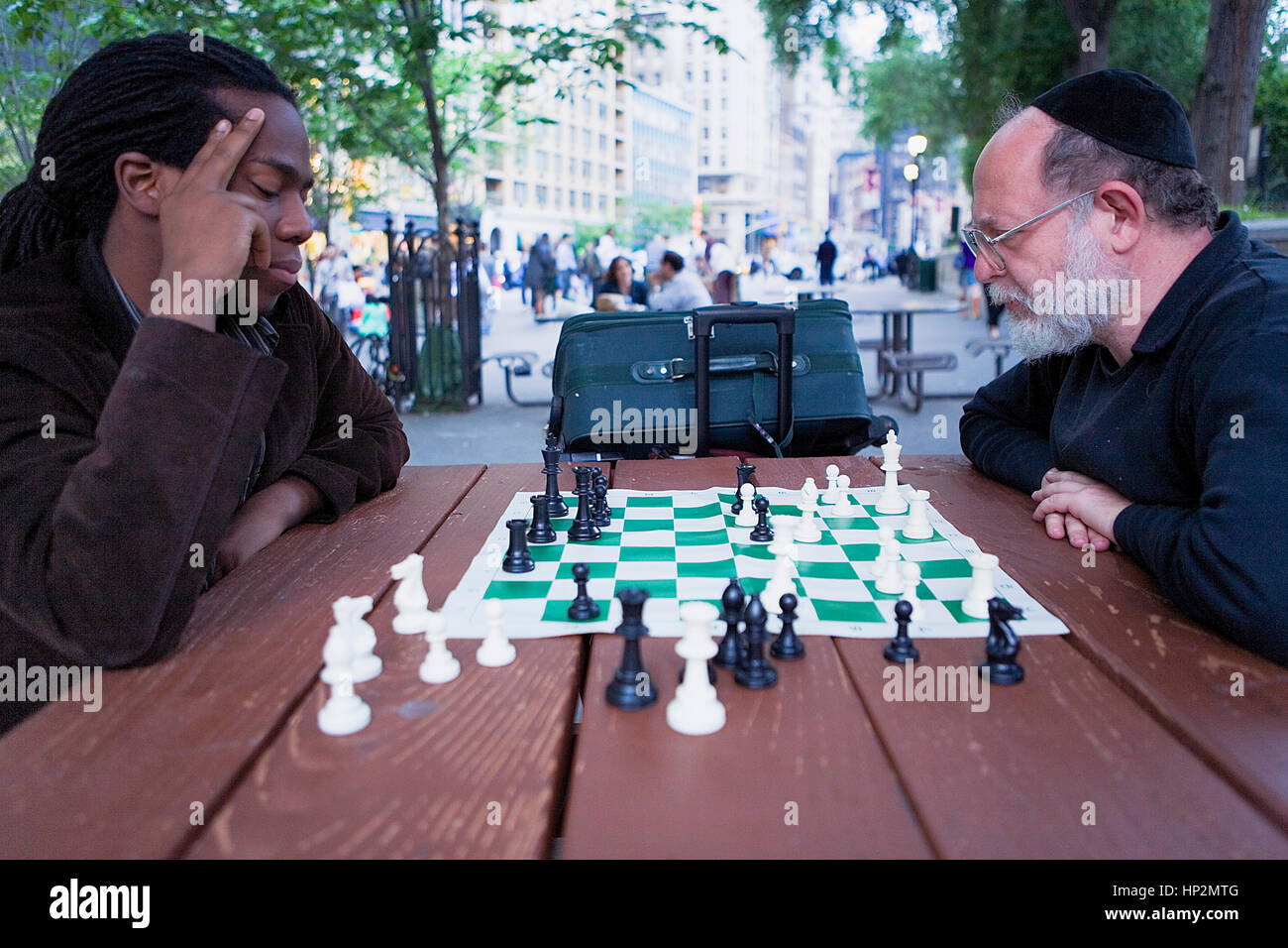 Union Square. Playing chess, Multiculturalism ,New York City, USA - Stock Image