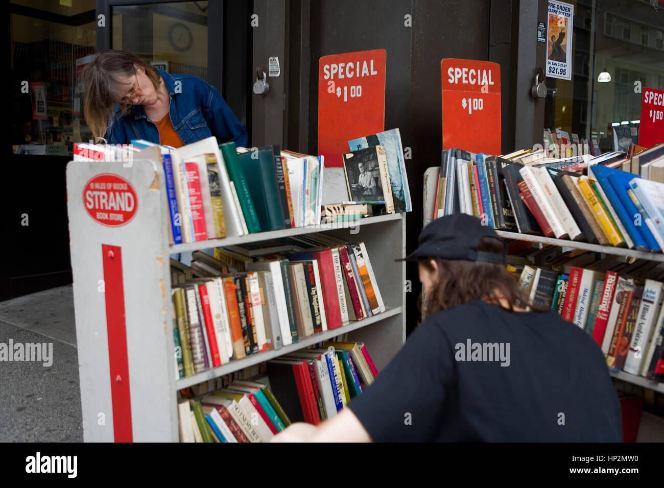 Strand Book Store. 828 Broadway at 12th St,New York City, USA, www.strandbooks.com - Stock Image
