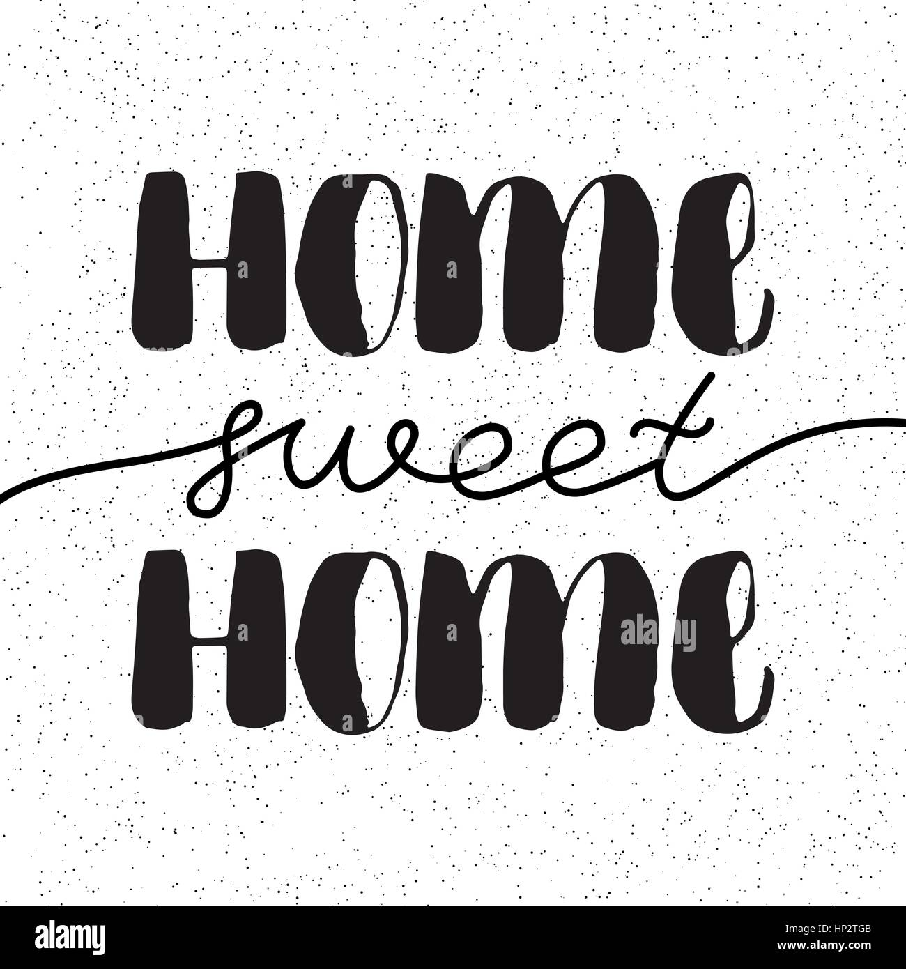 Hand Lettering Typography PosterCalligraphic Quote Home Sweet For Housewarming Posters Greeting Cards DecorationsVector Illustration