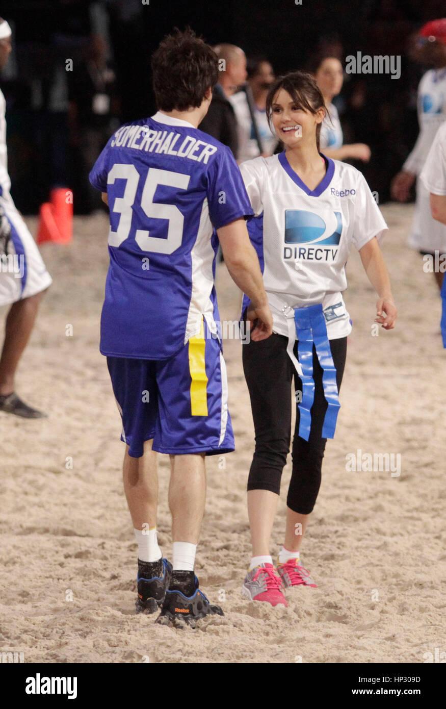 Nina Dobrev Photos Photos - DirecTV Celebrity Beach Bowl ...