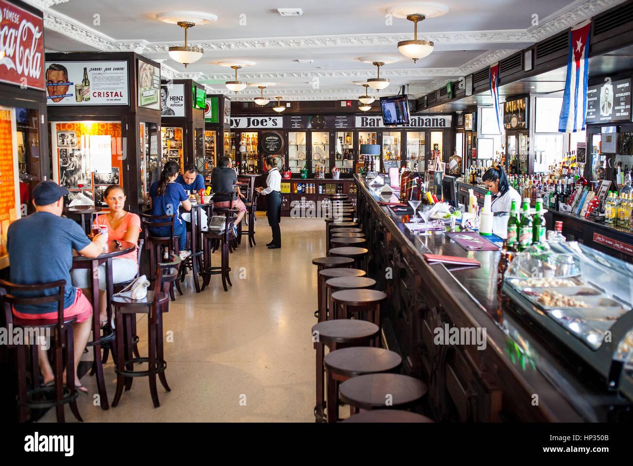 Sloppy Joe's Bar, is a a historic bar, La Habana, Cuba - Stock Image