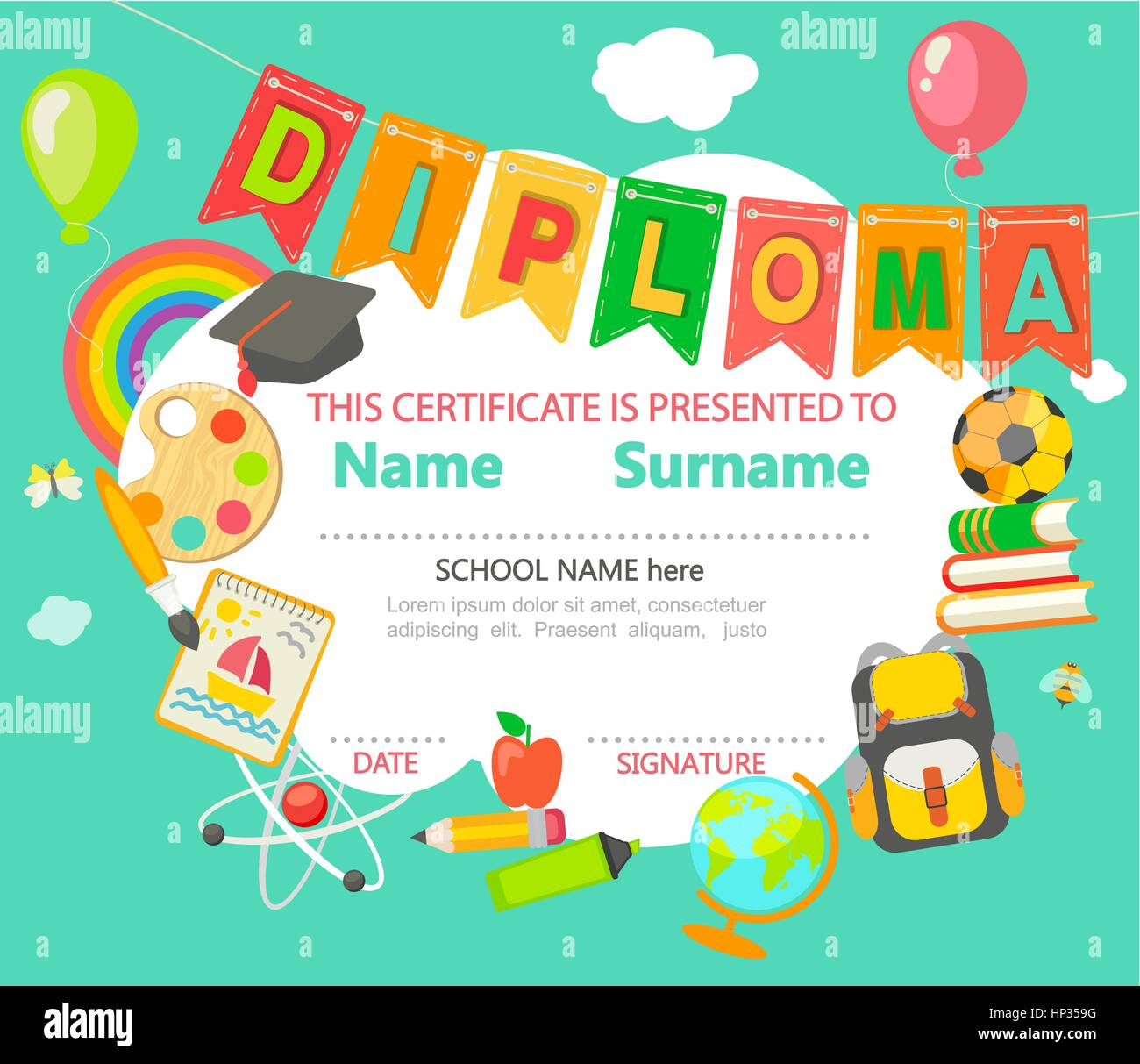 Certificate Stock Vector Images - Alamy