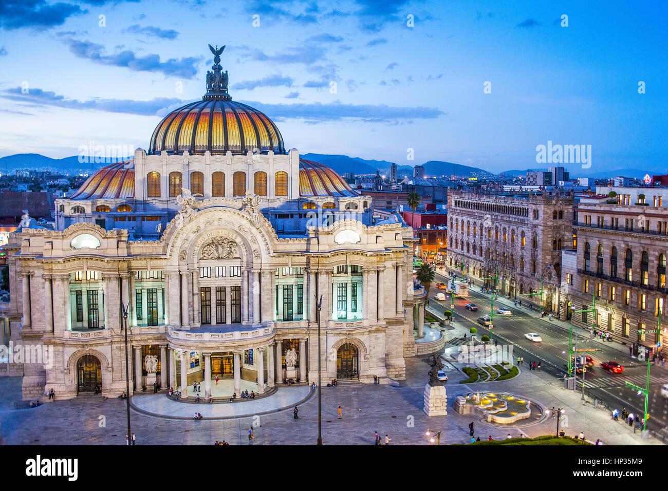 Palacio de Bellas Artes, Mexico City, Mexico - Stock Image