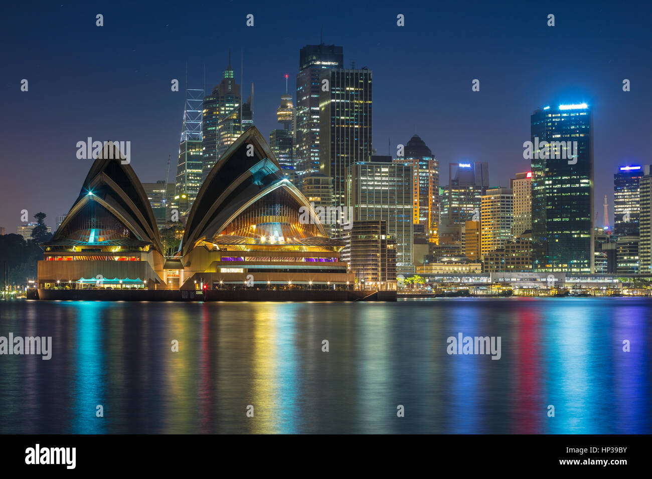 Sydney. Cityscape image of Sydney, Australia with Opera House and Sydney skyline during twilight blue hour. - Stock Image