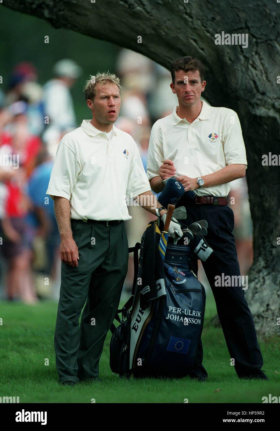 PER-ULRIK JOHANSSON RYDER CUP VALDERRAMA SPAIN 28 September 1997 - Stock Image