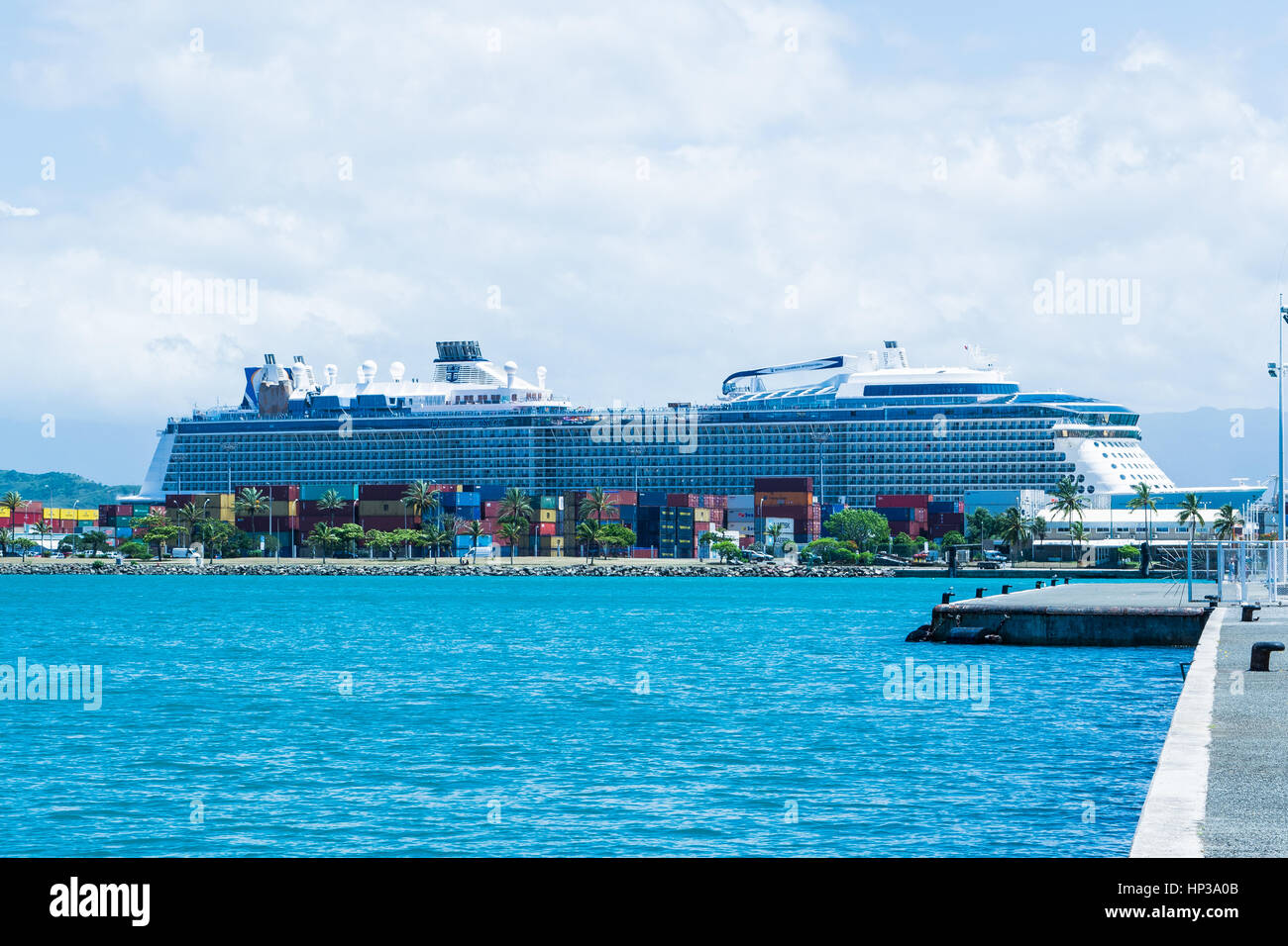 Ovation of the Seas in Noumea - Stock Image