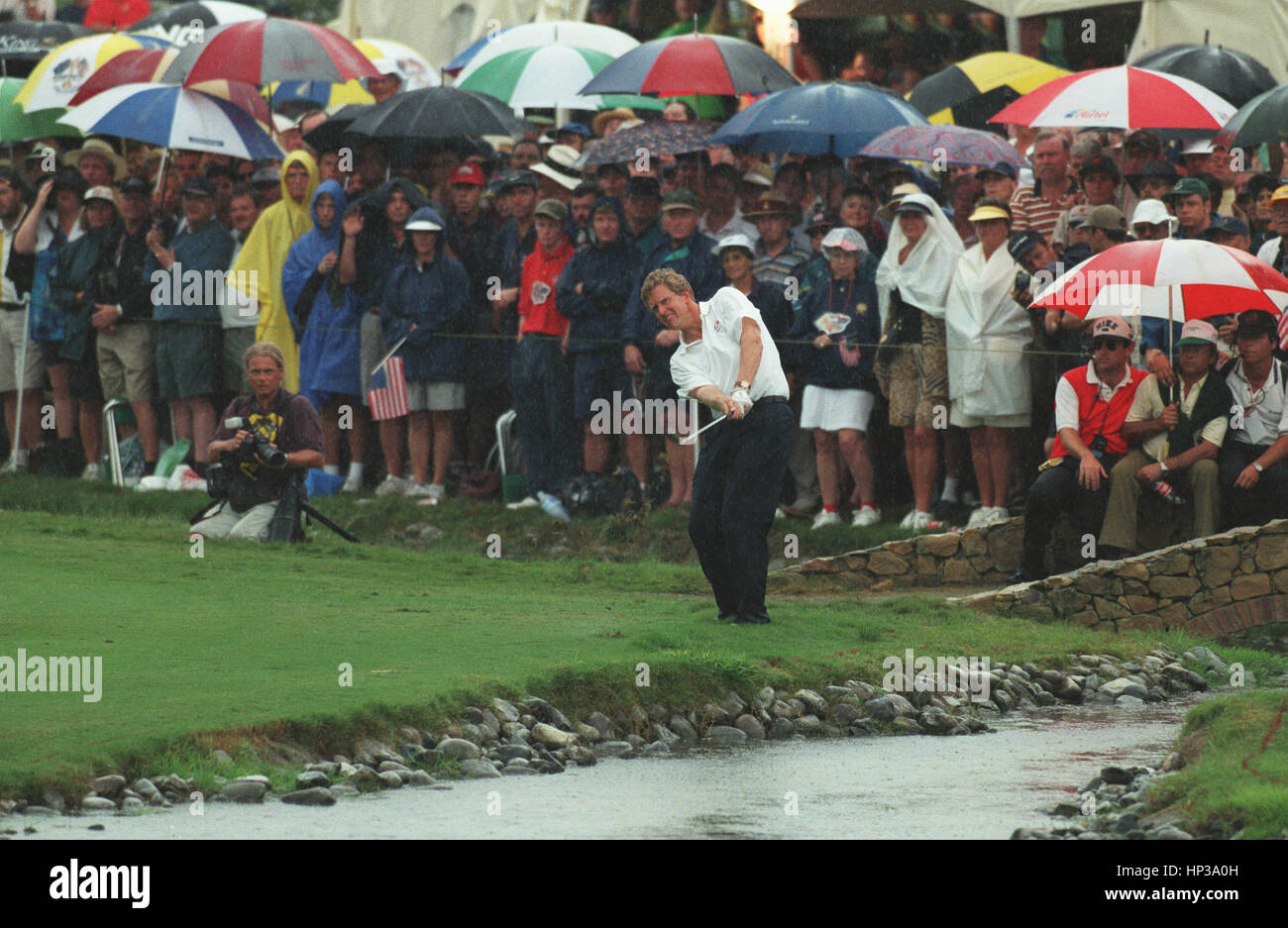 COLIN MONTGOMERIE PLAYS 17TH RYDER CUP VALDERRAMA SPAIN 29 September 1997 - Stock Image