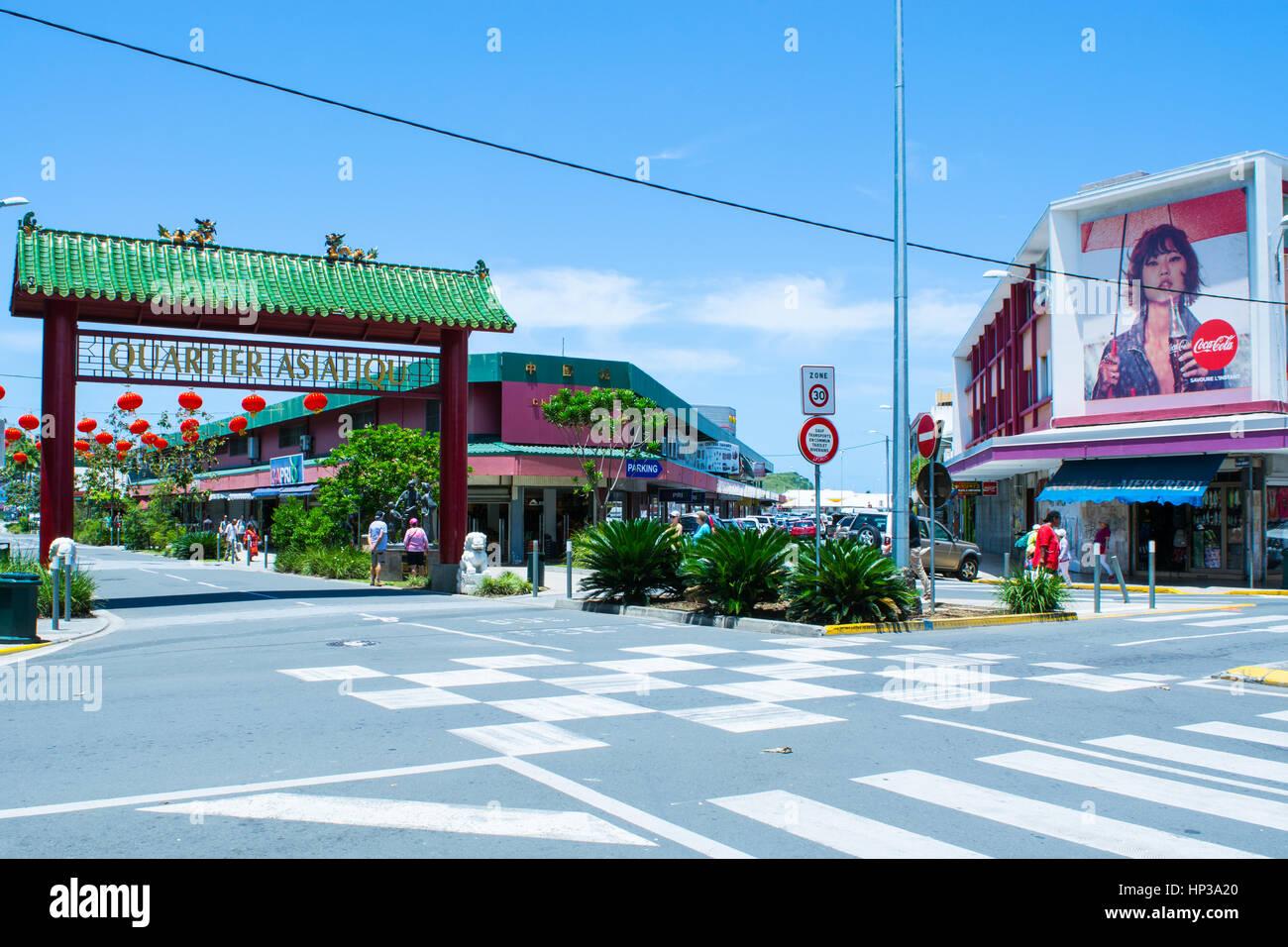 Asian Quarter Noumea New Caledonia - Stock Image