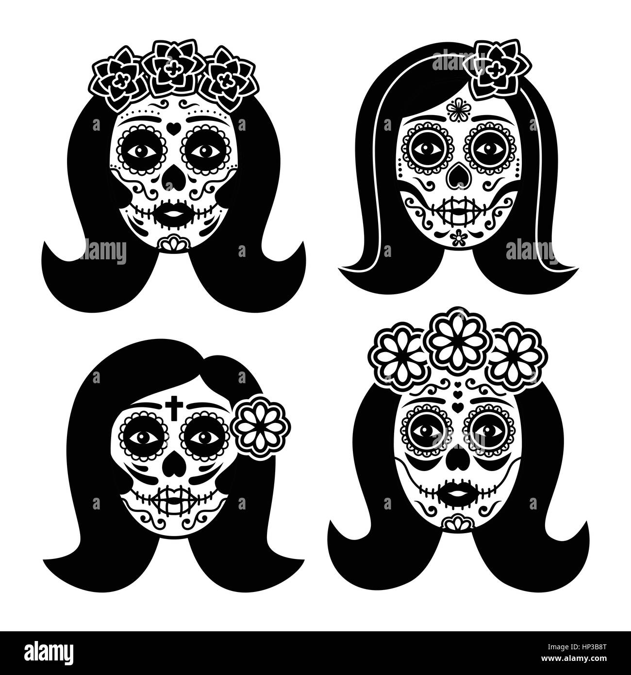 mexican la catrina day of the dead girl skull dia de los muertos woman HP3B8T