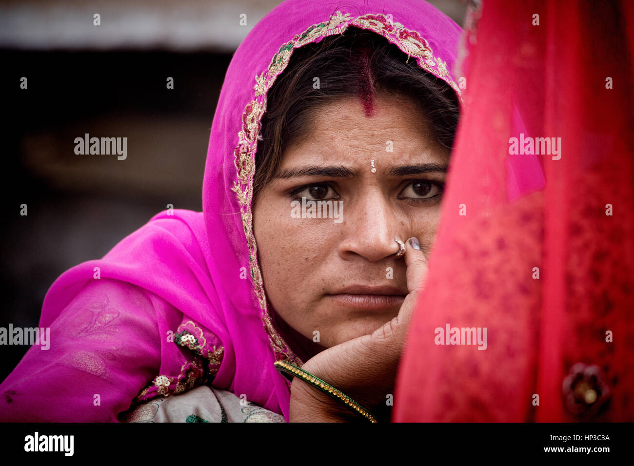 Indian Nose Ring Stock Photos & Indian Nose Ring Stock Images - Alamy