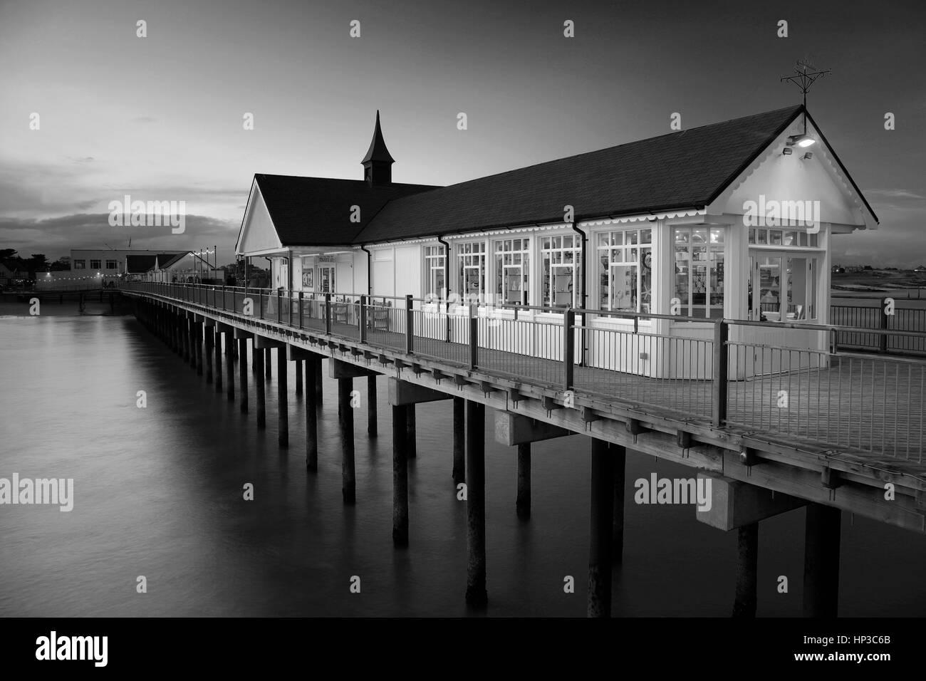 Dusk Southwold Pier Suffolk England UK - Stock Image