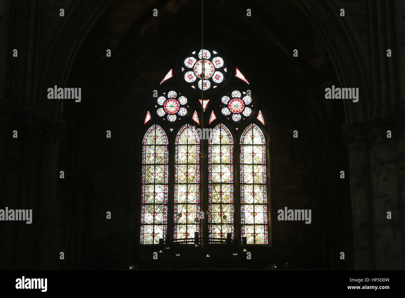 vitrail de la tour du chapitre cath drale saint etienne metz stock photo 134071081 alamy. Black Bedroom Furniture Sets. Home Design Ideas