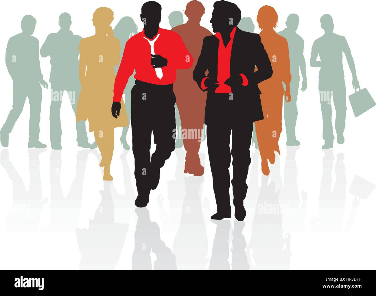 Sales team of young people - Stock Vector