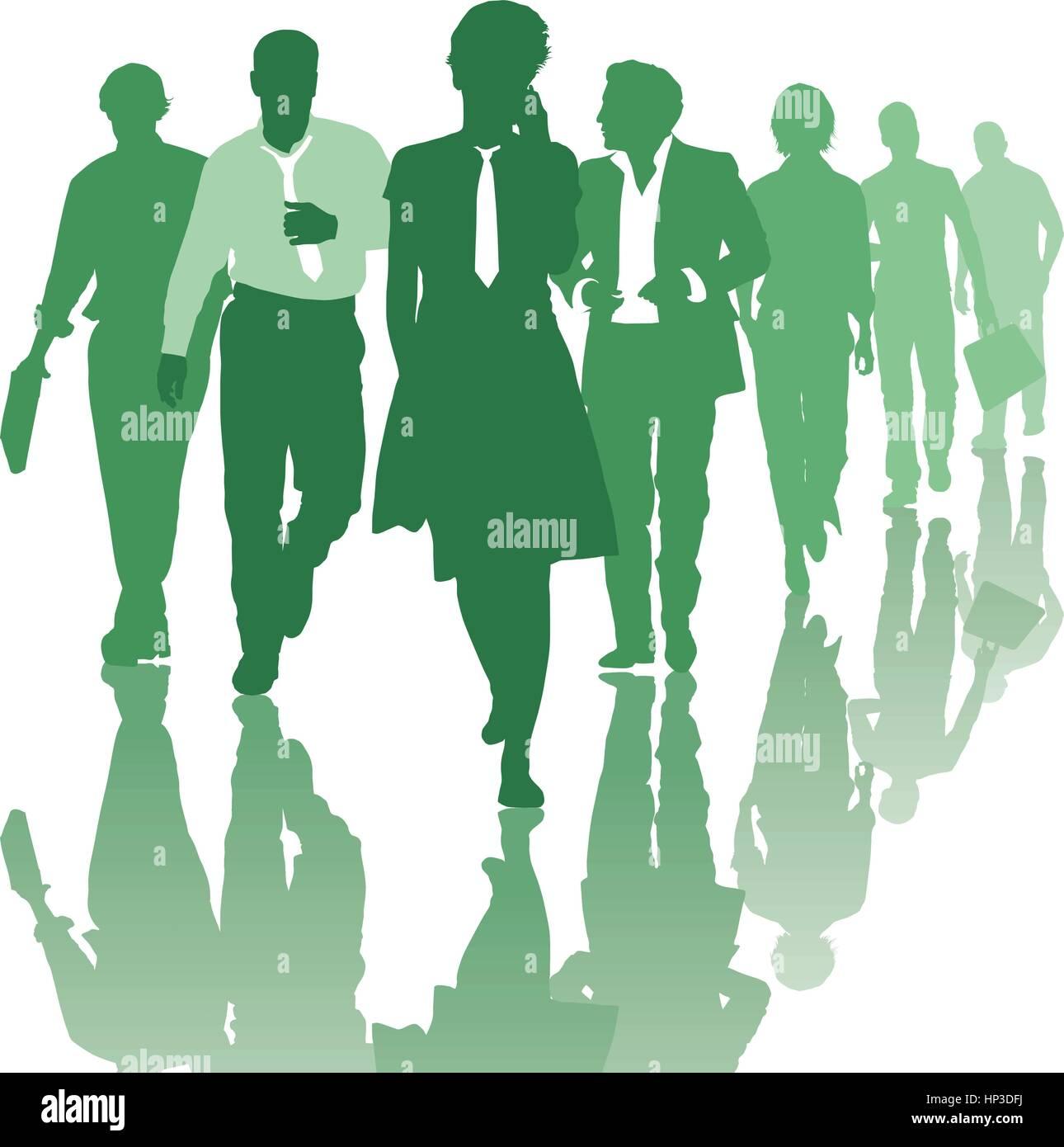 Teamwork people Business team - Stock Vector