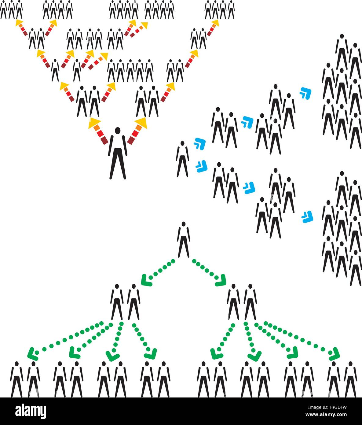 Network Human Structure - Stock Vector