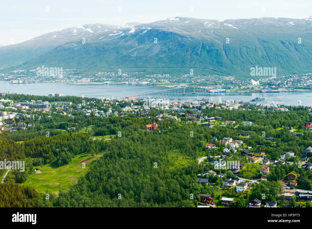 Aerial View of Tromso, Norway, Europe - Stock Image