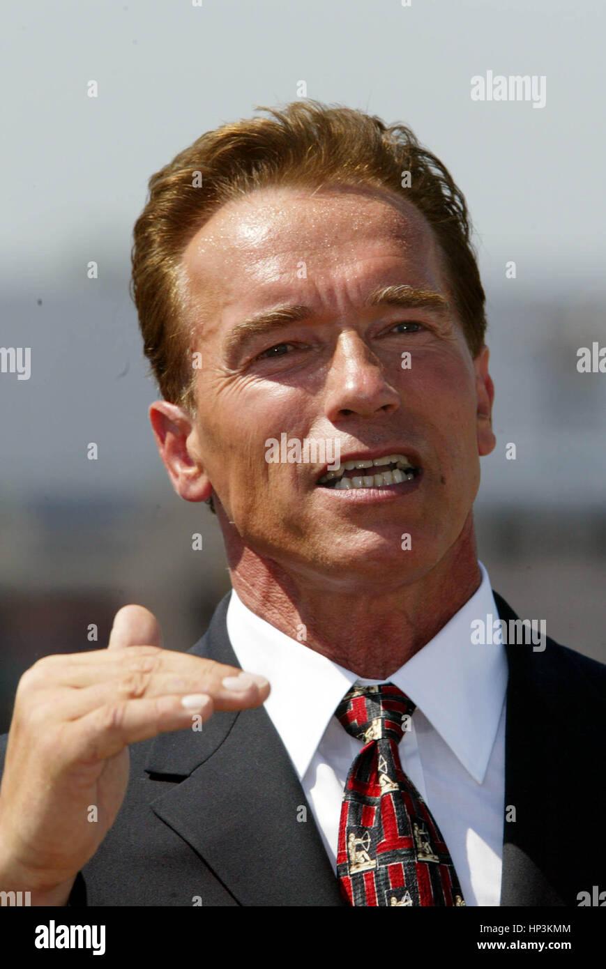 California gubernatorial candidate Arnold Schwarzenegger