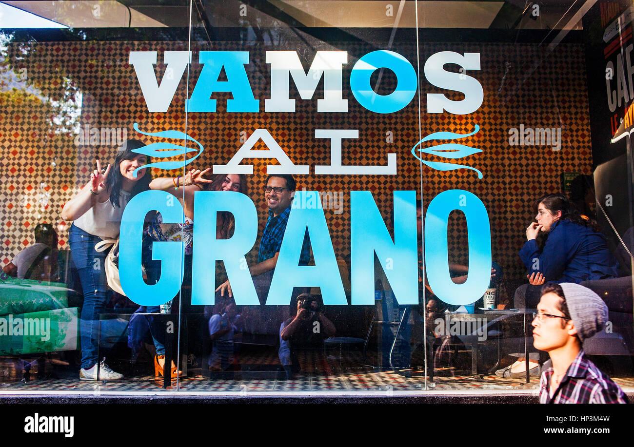 Cielito querido cafe, Génova street, Pink zone, Mexico City, Mexico. cielitoquerido.com.mx Stock Photo